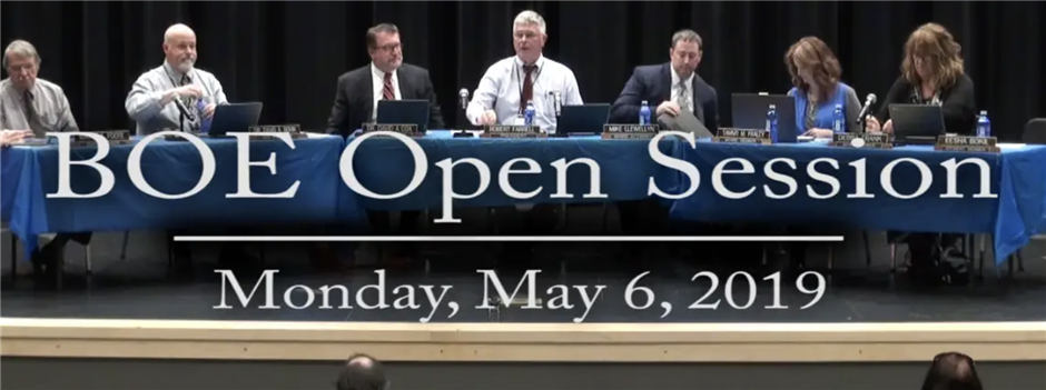 BOE Open Session May 6, 2019