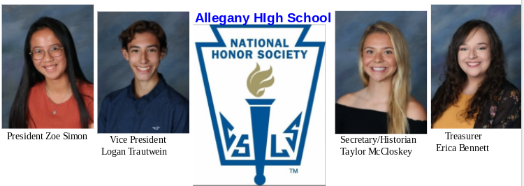 Allegany High School Chapter of the National Honor Society Holds Virtual Induction