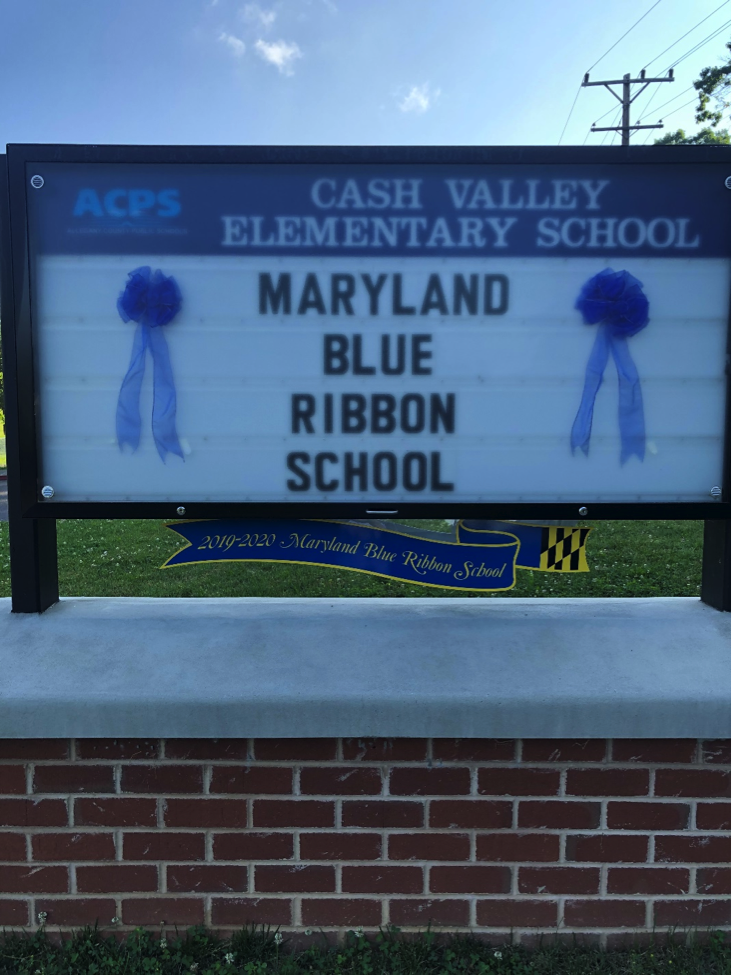 Cash Valley is a Maryland Blue Ribbon School